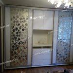 Шкаф-купе двух дверный + ТВ тумба с пескоструйным рисунком