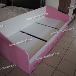 Кровать односпальная розовая ЛДСП Донецк