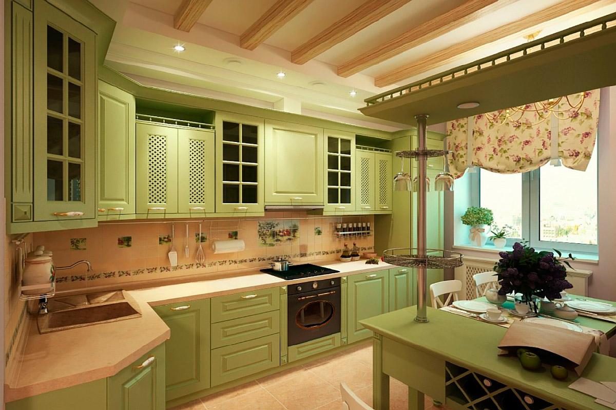 Кухня в стиле «Французский Прованс»