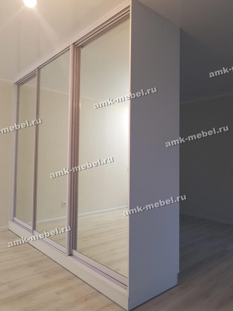 Шкаф-купе Белый 3-ёх дверный с зеркалами