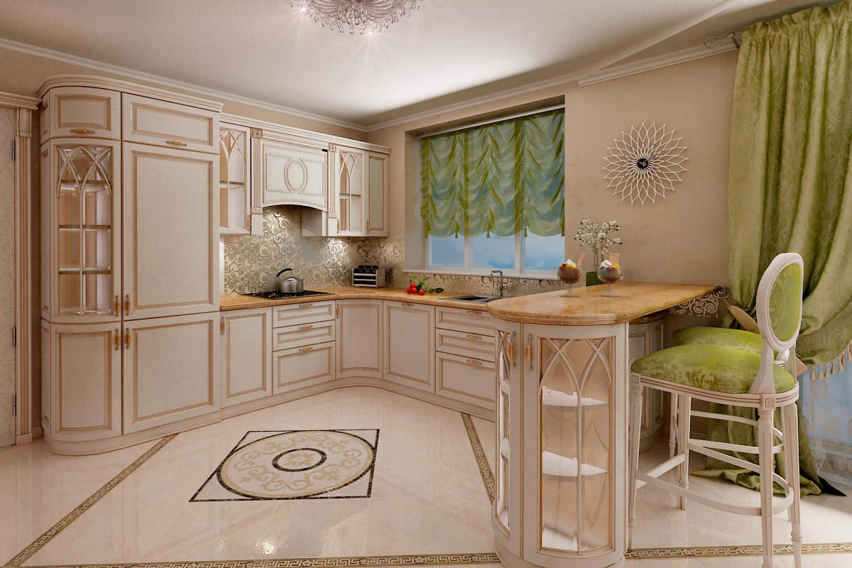 Кухня в Классическом стиле в Донецке от AMK group